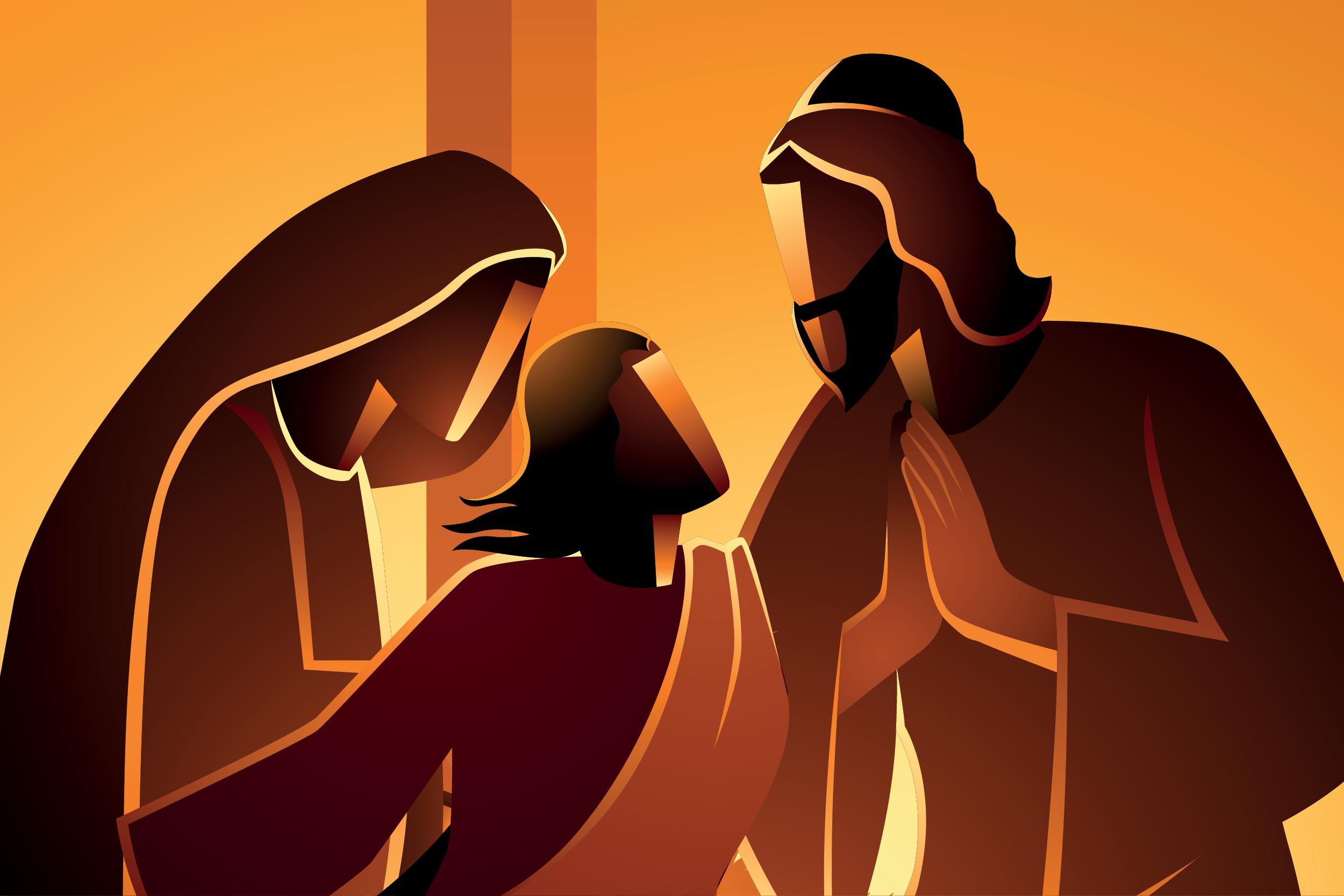 El Niño Jesús perdido y hallado en el Templo. Ilustración: Martín Cuéllar.