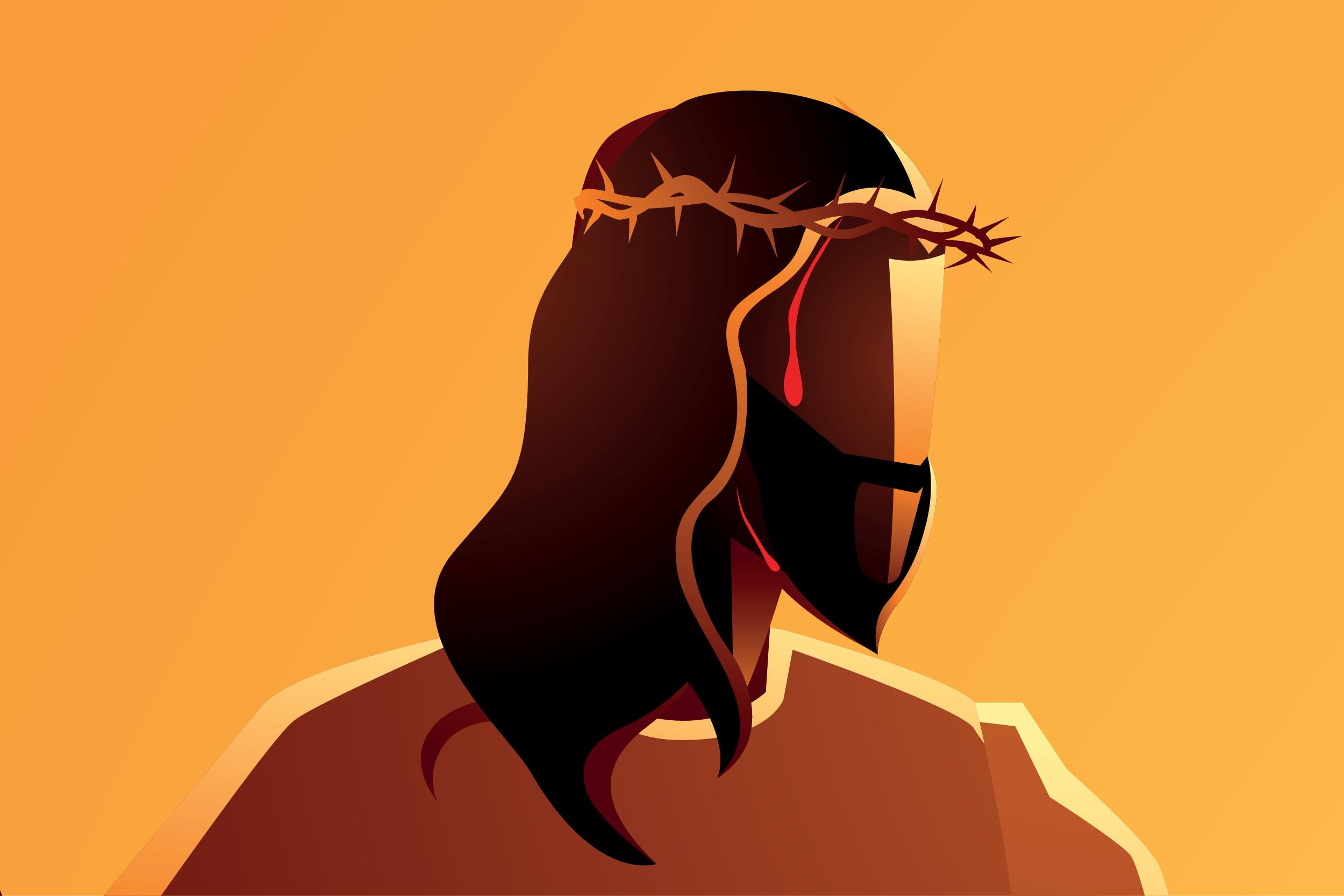 Jesús es coronado con espinas. | Ilustración: Desde la Fe / Martín Cuéllar.