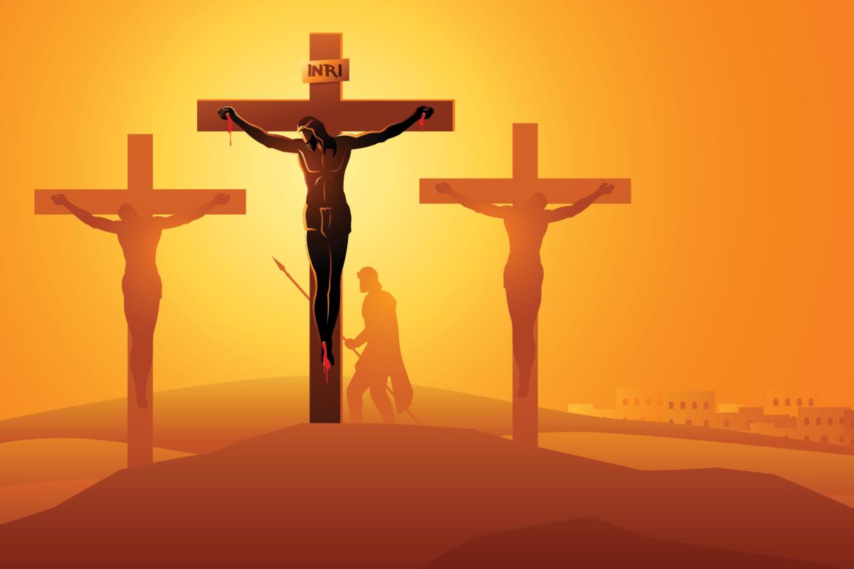 Crucifixión y Muerte de Nuestro Señor. Ilustración: Martín Cuéllar.