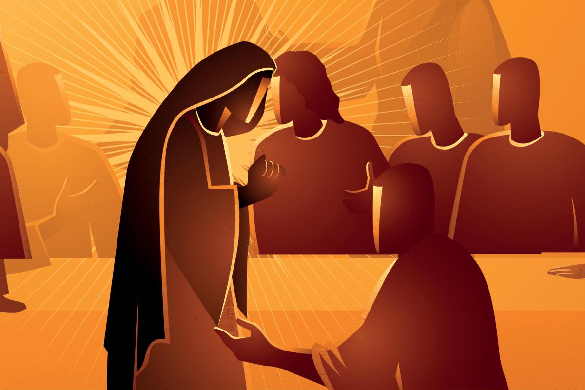 La venida del Espíritu Santo. Ilustración: Martín Cuéllar.
