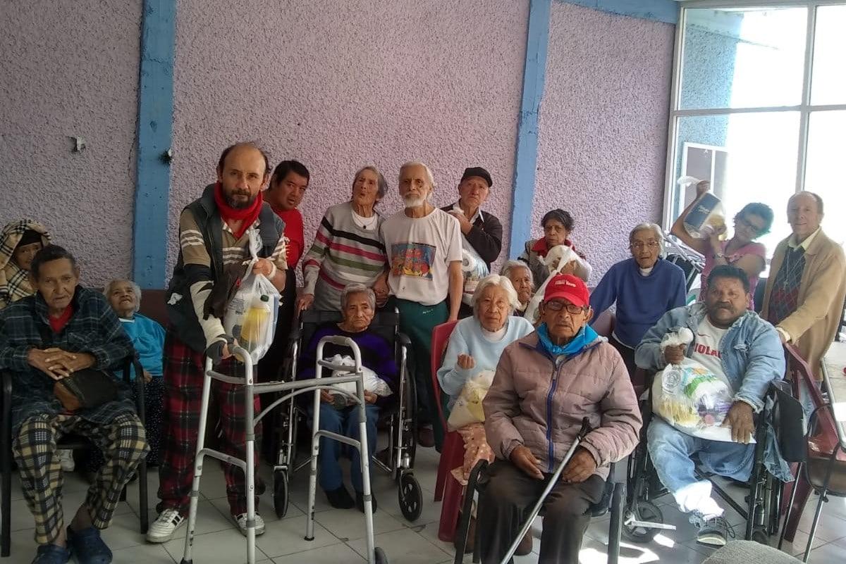 El asilo de ancianos se encuentra en la Parroquia de la Asunción de María, en Iztapalapa. Foto: Cortesía.