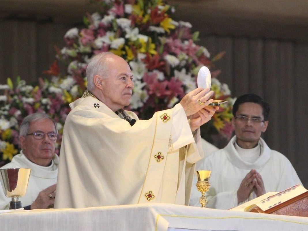 Arzobispo Primado de México, Carlos Aguiar Retes. Foto: INBG/Cortesía.