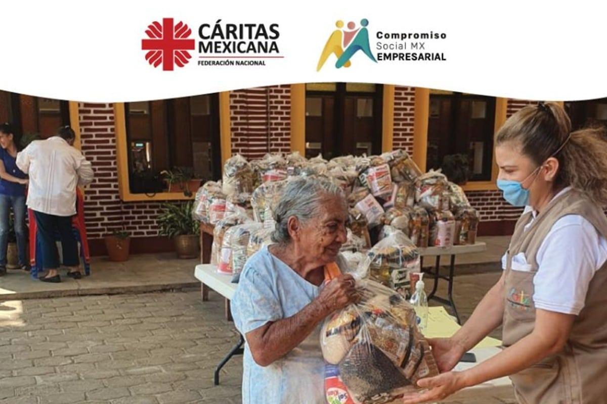 Familias sin hambre. iniciativa de la Iglesia en México. Foto: Facebook Cáritas Mexicana.