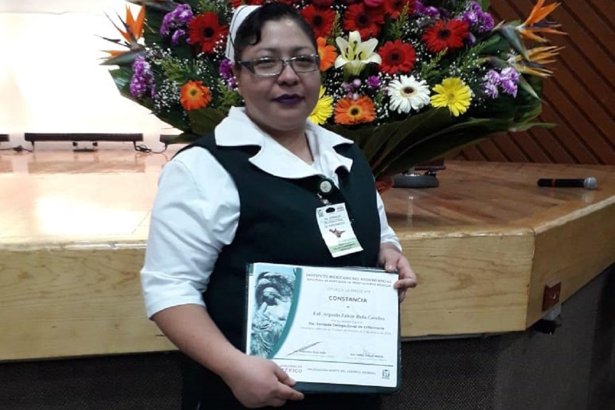 Carolina Argüello Falcón, enfermera especialista pediatra. Foto: Cortesía.