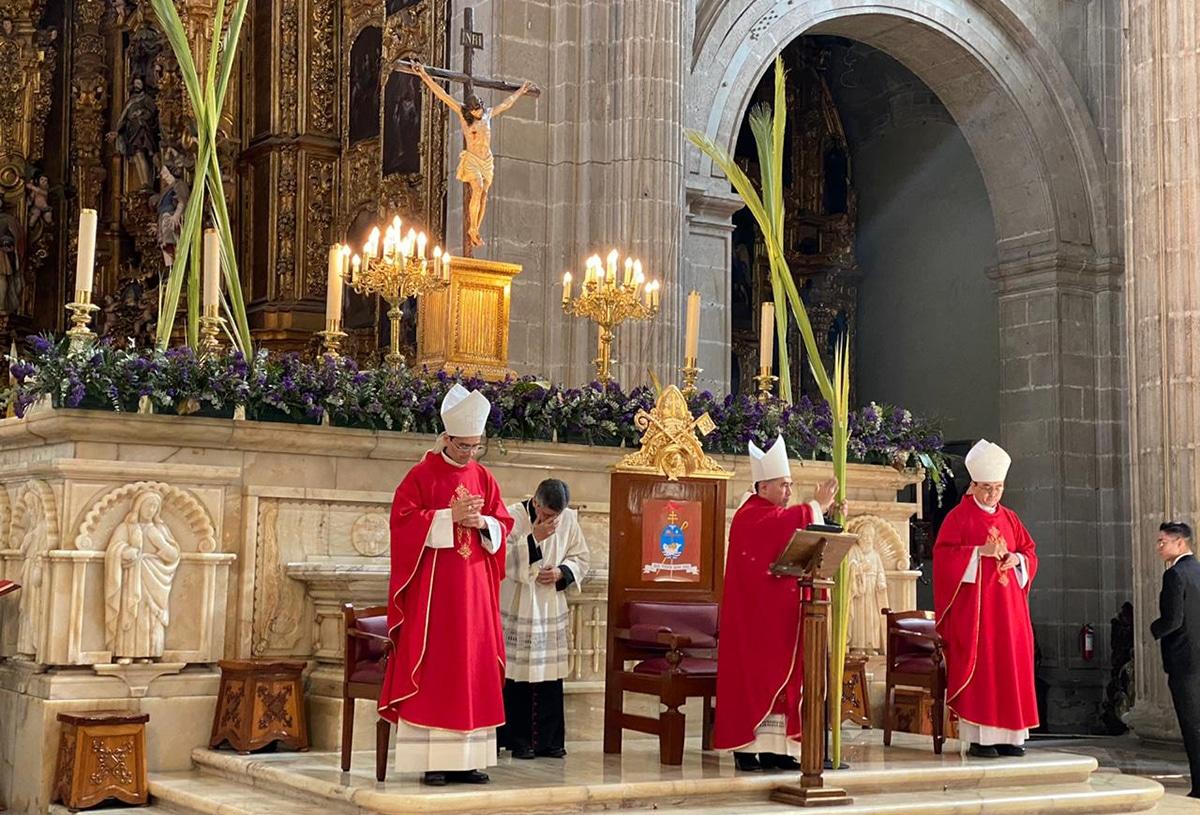 El Domingo de Ramos 2020 en la Catedral Metropolitana.