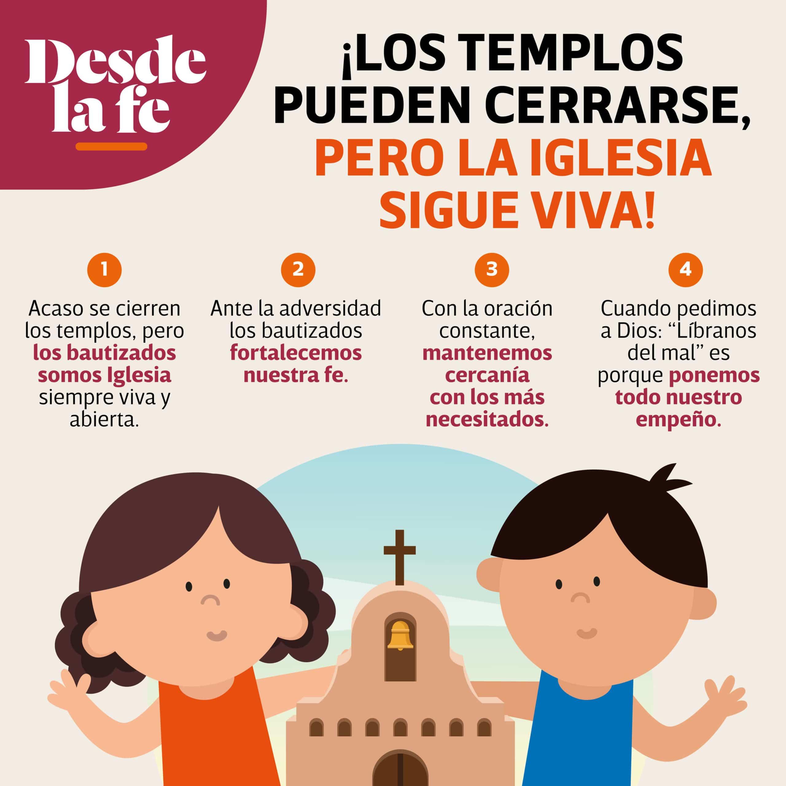 Aunque los templos estén cerrados, la Iglesia sigue viva.