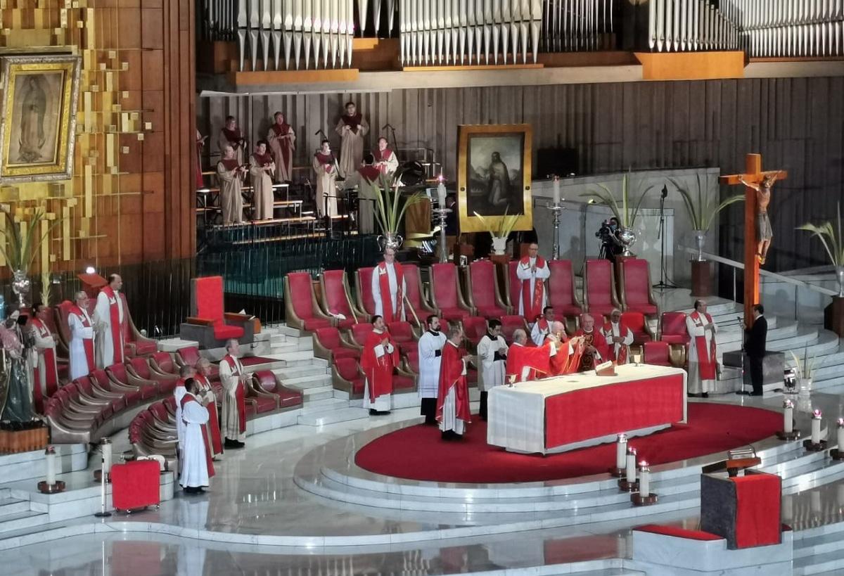 La Misa de Domingo de Ramos 2020 en la Basílica de Guadalupe.