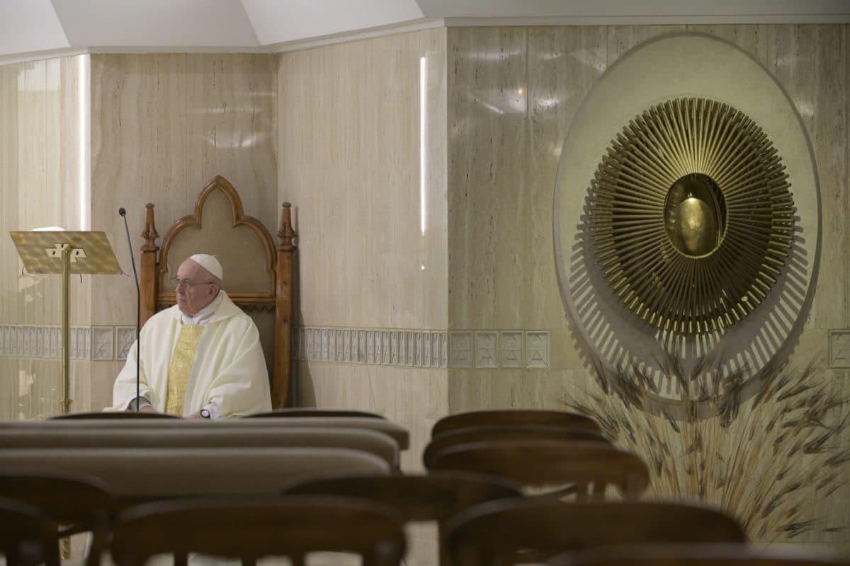 Papa Francisco en Santa Marta. Foto: Vatican Media.