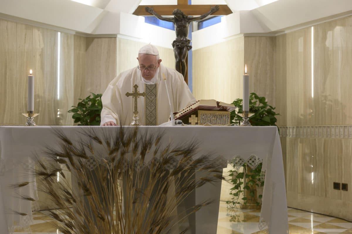 Papa Francisco en la capilla de Santa Marta. Foto: Vatican Media
