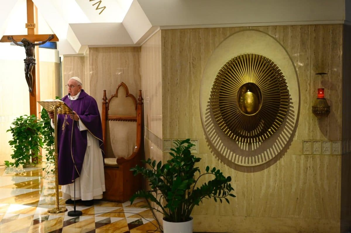 Papa Francisco en Santa Marta. Foto: Vatican Media