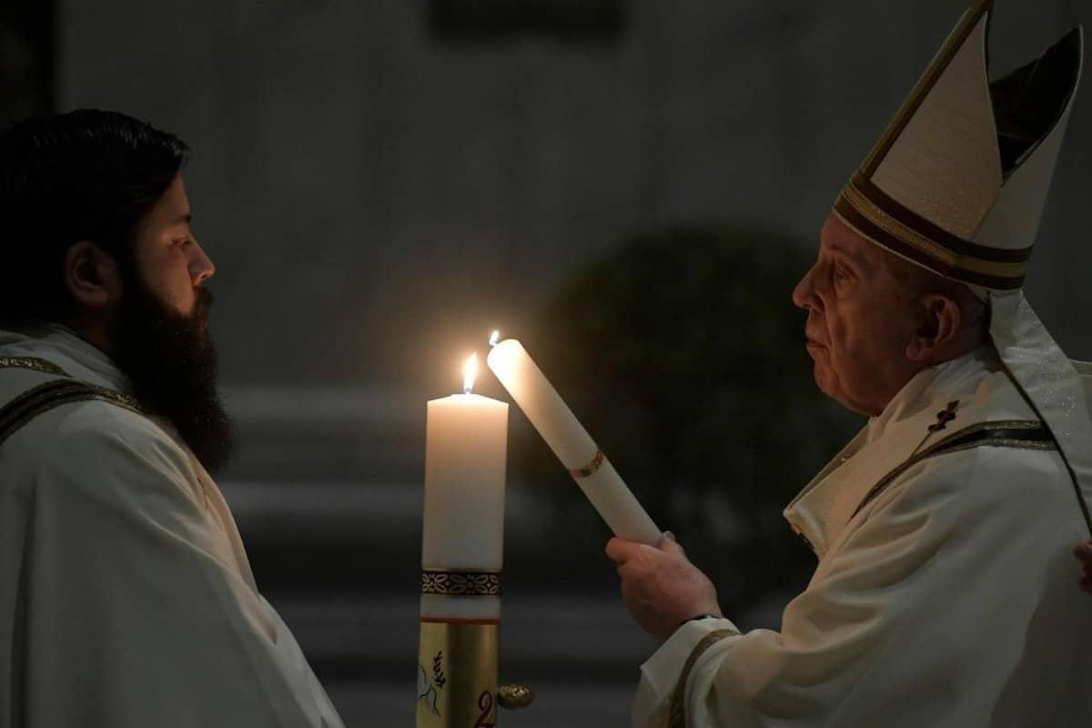Vigilia Pascual Semana Santa 2020. Foto: Vatican Media