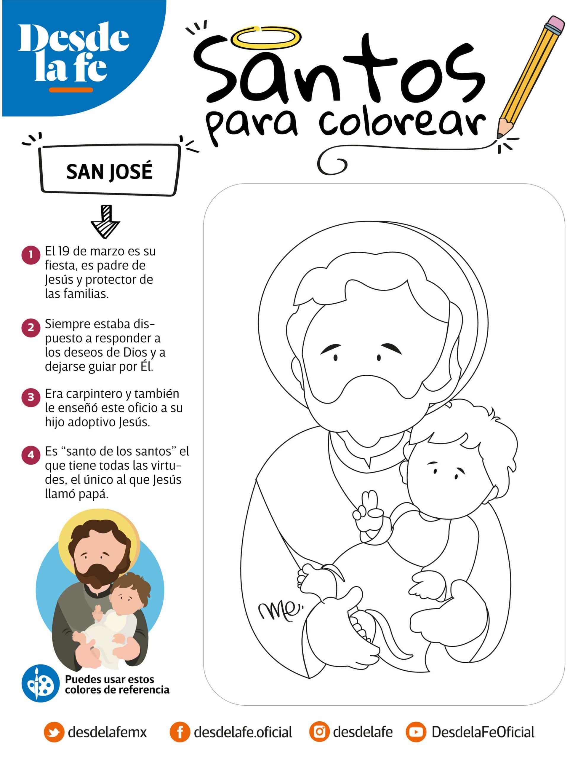 San José, dibujo para colorear.