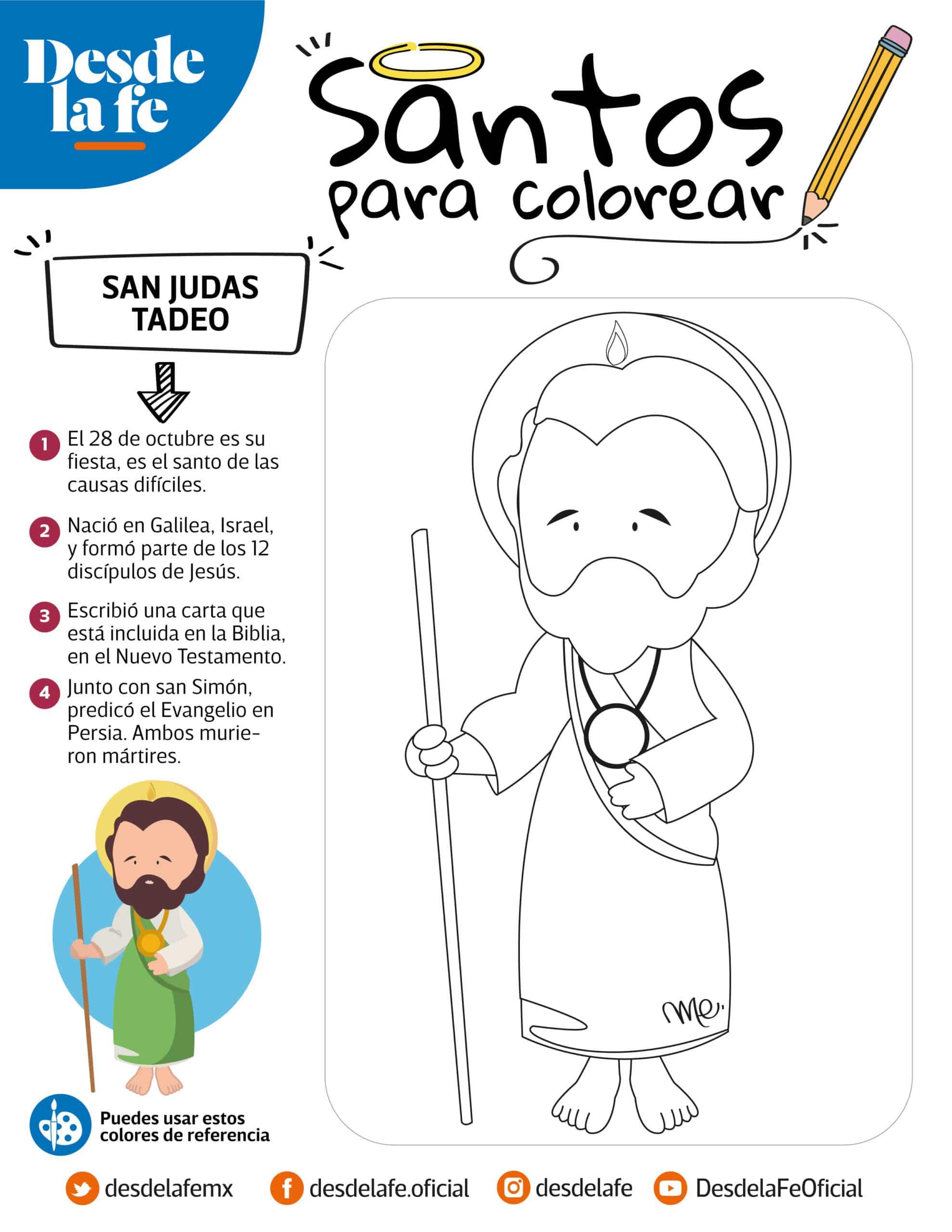San Judas Tadeo, dibujo para colorear.