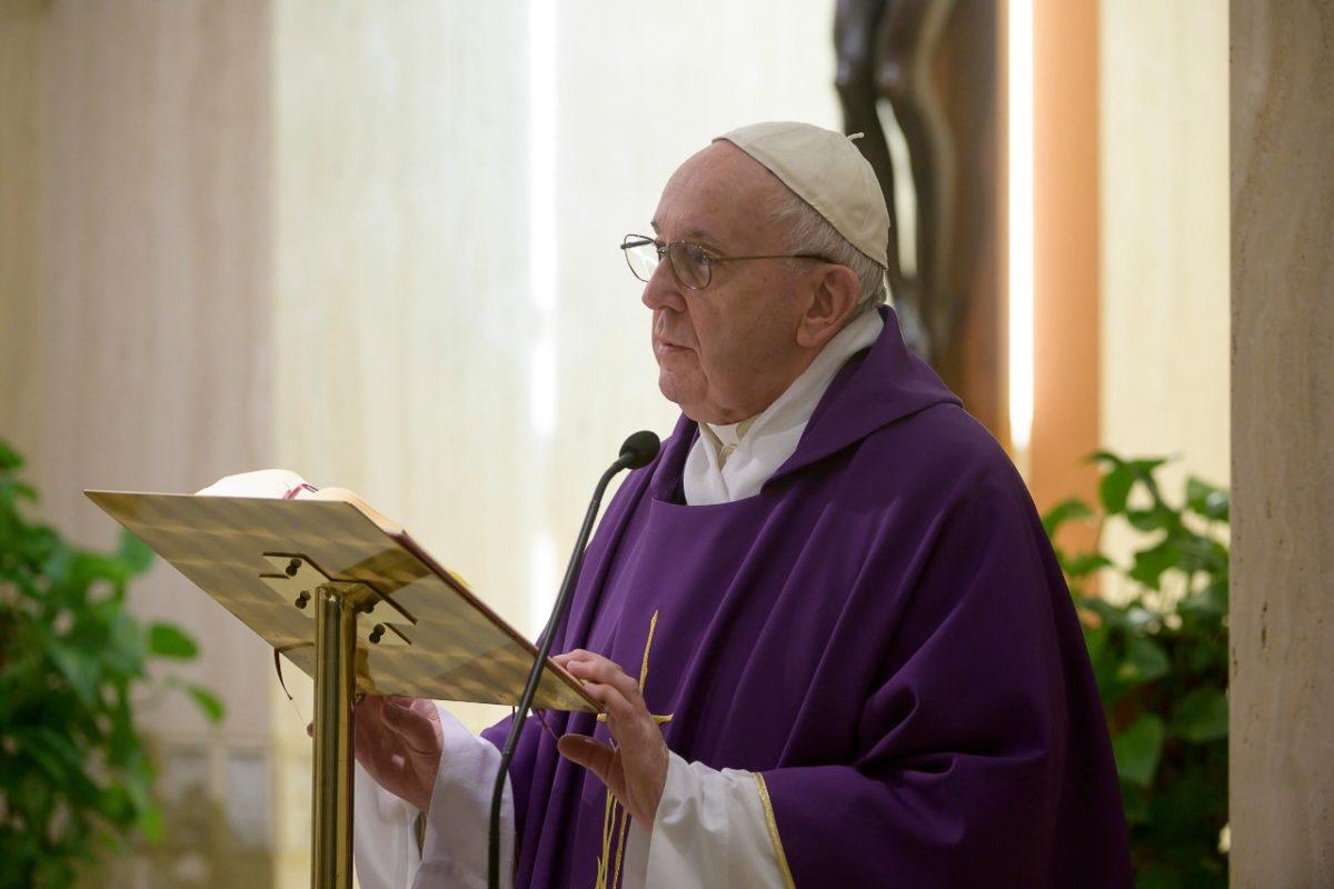 Papa Francisco en Santa Marta durante el tiempo de Cuaresma.