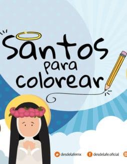 Dibujos de santos para colorear: Un álbum de regalo para los niños
