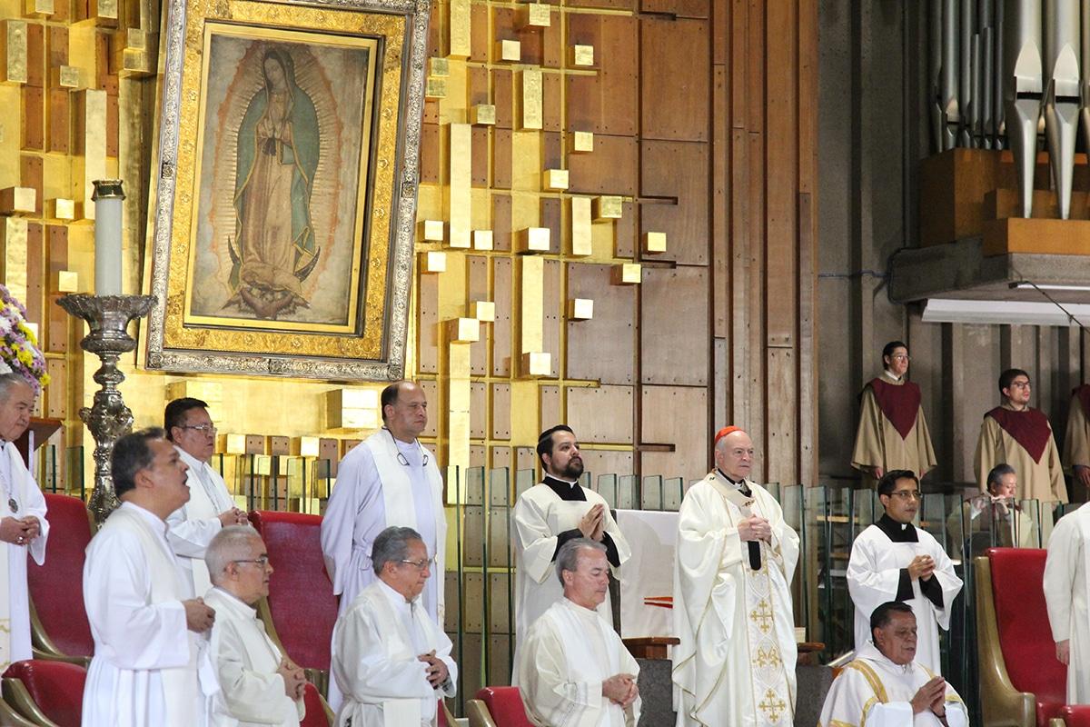 Misa del 17 de mayo de 2020 en la Basílica de Guadalupe. Foto: INBG/Cortesía.