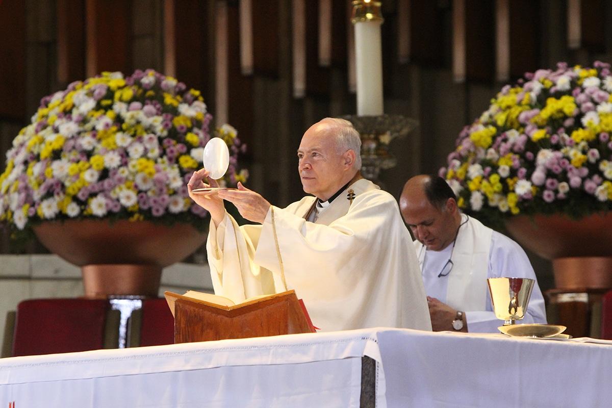 El Arzobispo Carlos Aguiar Retes. Foto: Basílica de Guadalupe/Cortesía.
