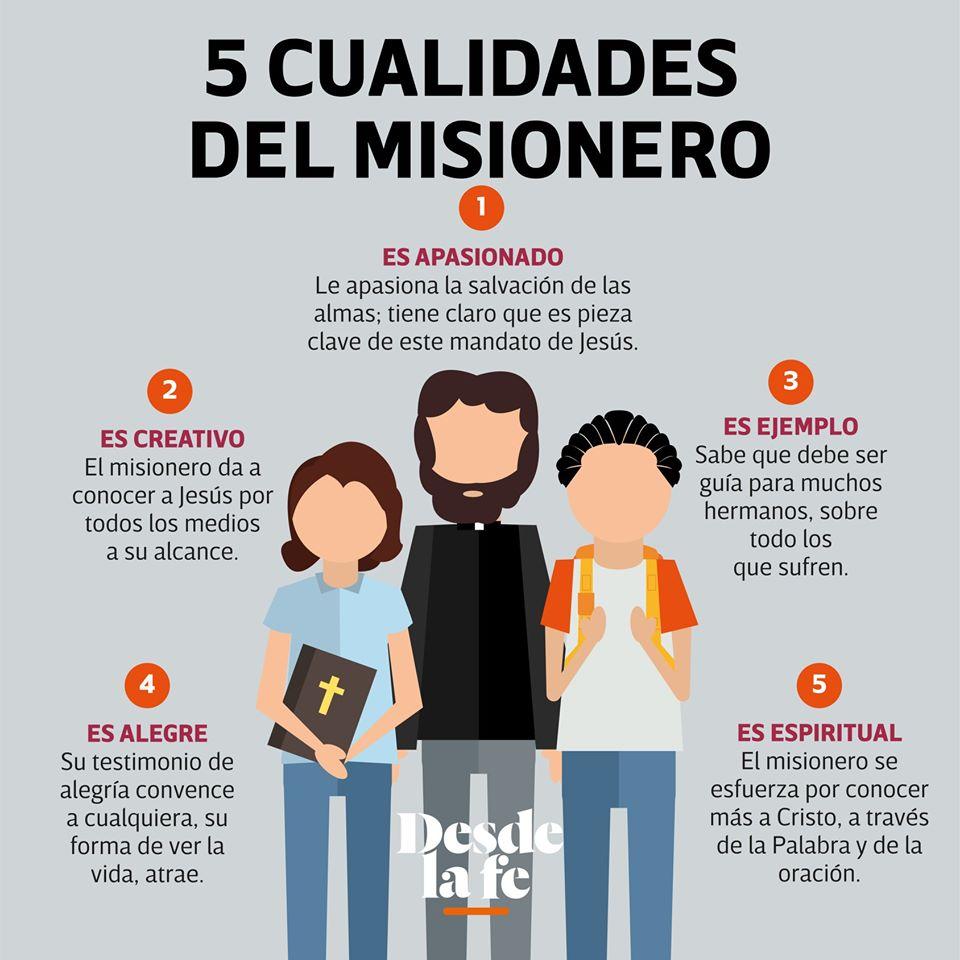 5 cualidades del misionero. Infografía DLF