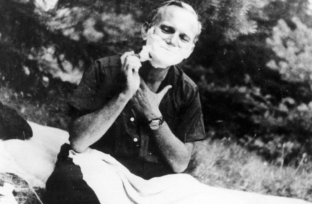 Juan Pablo II en su juventud.