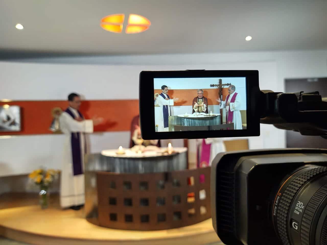 Misa de los obispos auxiliares de la Arquidiócesis de México. Foto: Ricardo Sánchez.