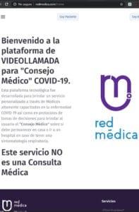 Seleccionar 'Soy paciente' para Consejo Médico. Foto: Videollamada COVID-19