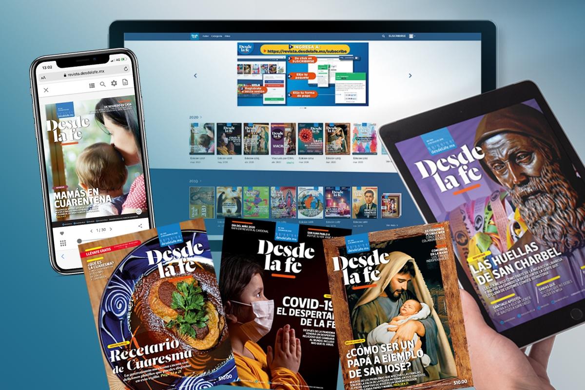 Encuentra cada domingo una nueva edición de la revista Desde la fe en versión digital.