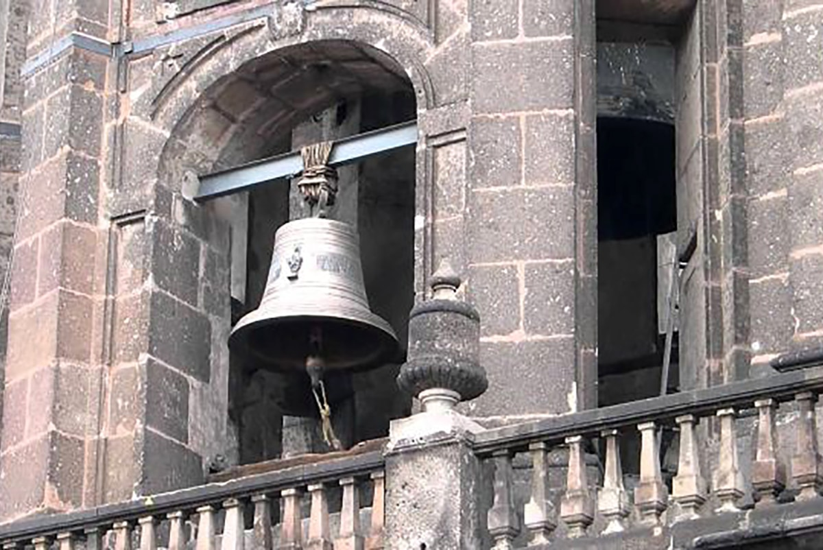 Campana de San Juan Diego en la Catedral Metropolitana. Foto: SIAME.