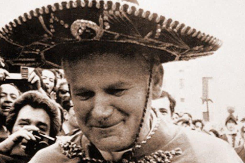 Juan Pablo II en su primera visita a México. Foto: conexionmigrante.com