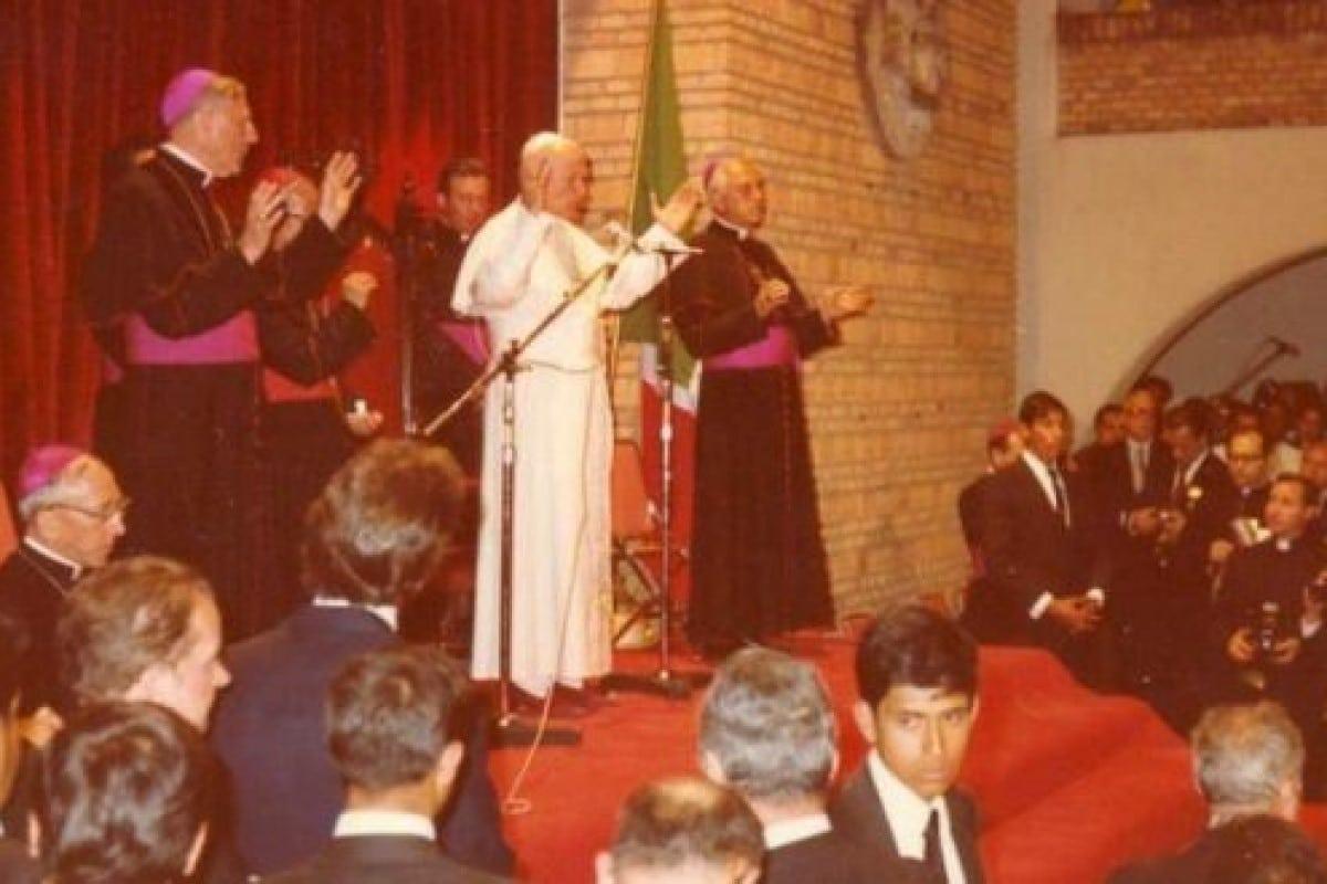 Juan Pablo II en su visita al Seminario de Guadalajara. Foto: Arquimediosgdl