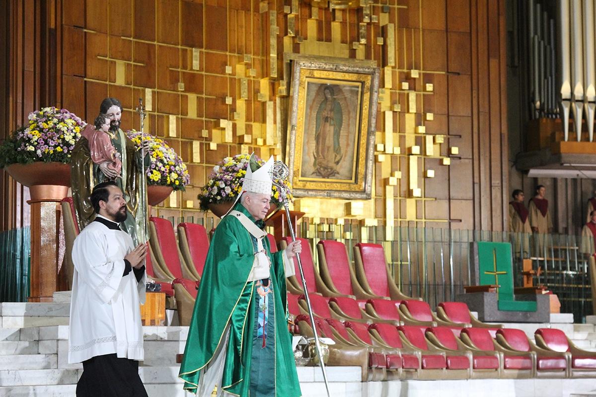 Misa dominical en la Basílica de Guadalupe. Foto: INBG/Cortesía.