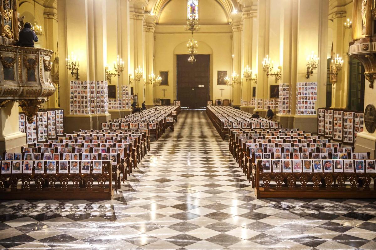La Iglesia de Lima ofreció la Misa de Corpus por los fallecidos por COVID-19. Foto: Twitter Arzobispado de Lima.