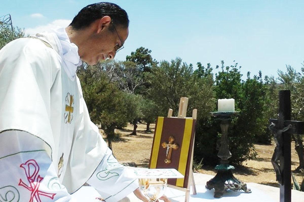 Misa y bendición por el día del padre. Foto Gayosso/Cortesía