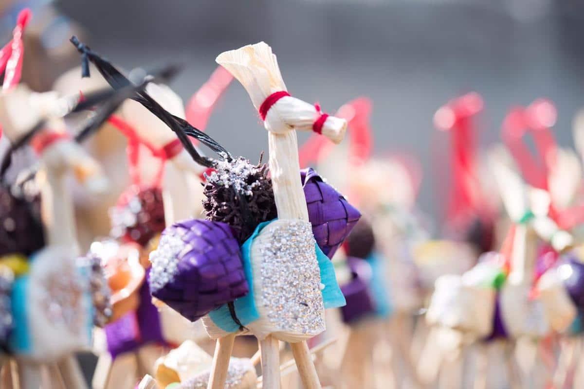 Mula hecha de palma, un tradicional regalo de Corpus Christi. Foto: María Langarica