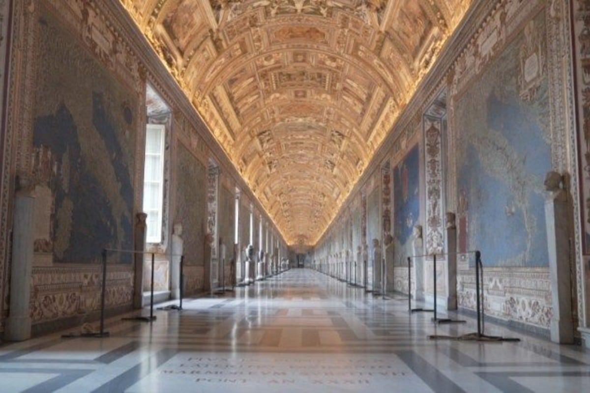 Los museos vaticanos.