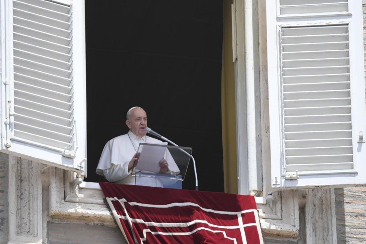 El Papa Francisco en el Ángelus. Foto: Vatican News.