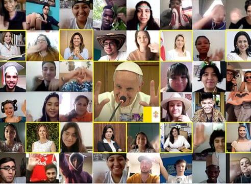 El Papa Francisco sostuvo 'ciberencuentro' mundial con jóvenes