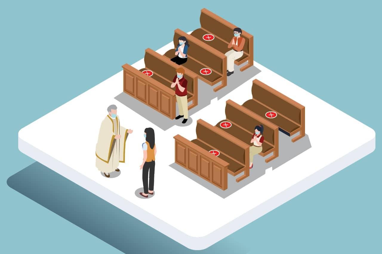 Para el regreso gradual a los templos será necesario seguir las medidas de sanidad para evitar contagios.