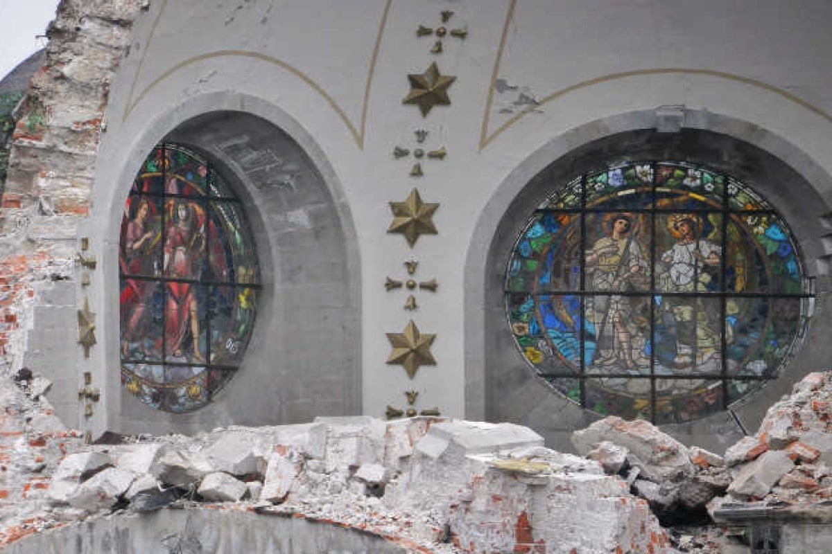 Vitrales del Santuario de Nuestra Señora de los Ángeles. Foto: INAH