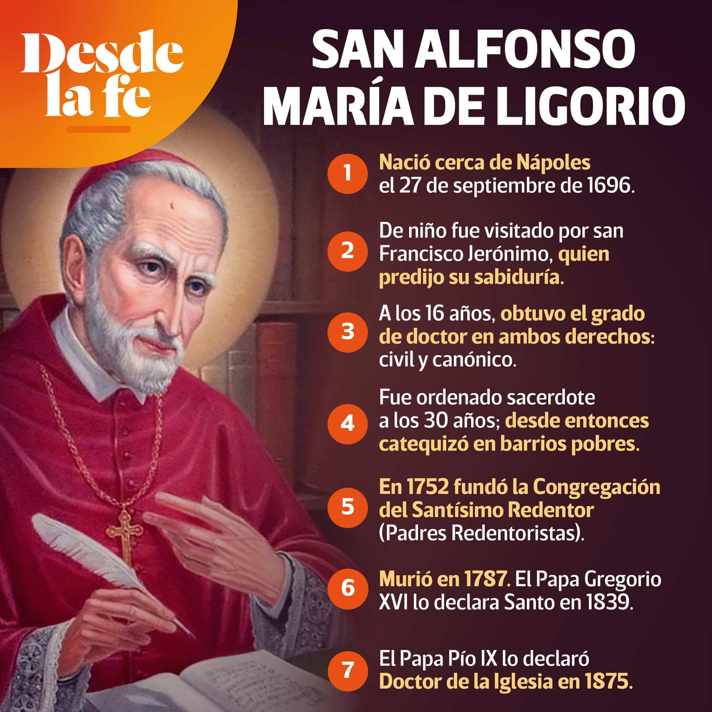 San Alfonso María de Ligorio.