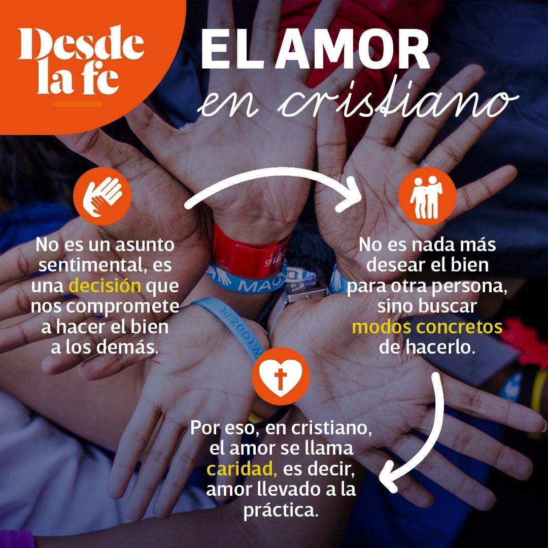 El amor es caridad.