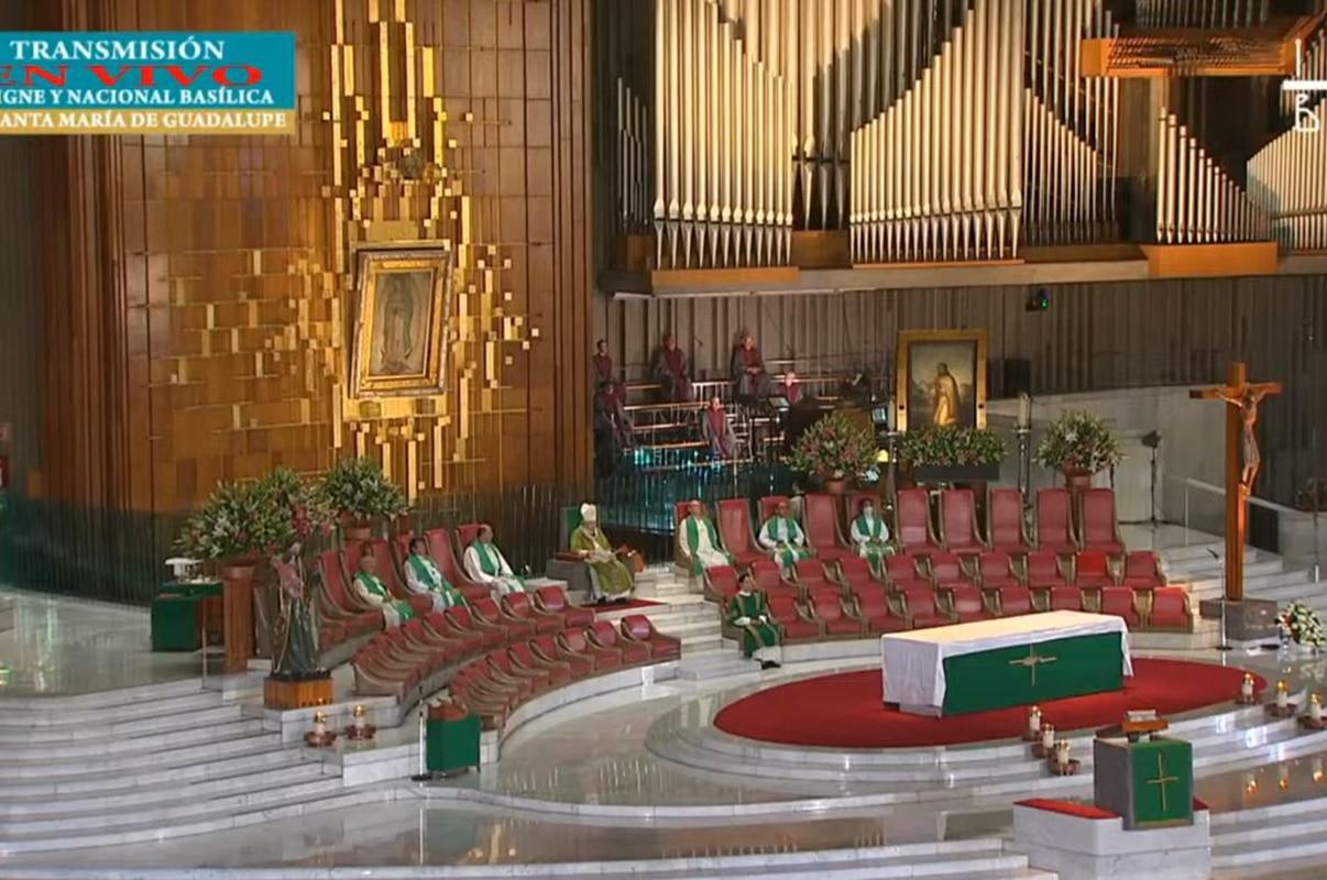 Misa en la Basílica de Guadalupe del 19 de julio de 2020.