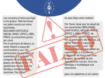 No hay un brote de COVID-19 en el Seminario Conciliar de México