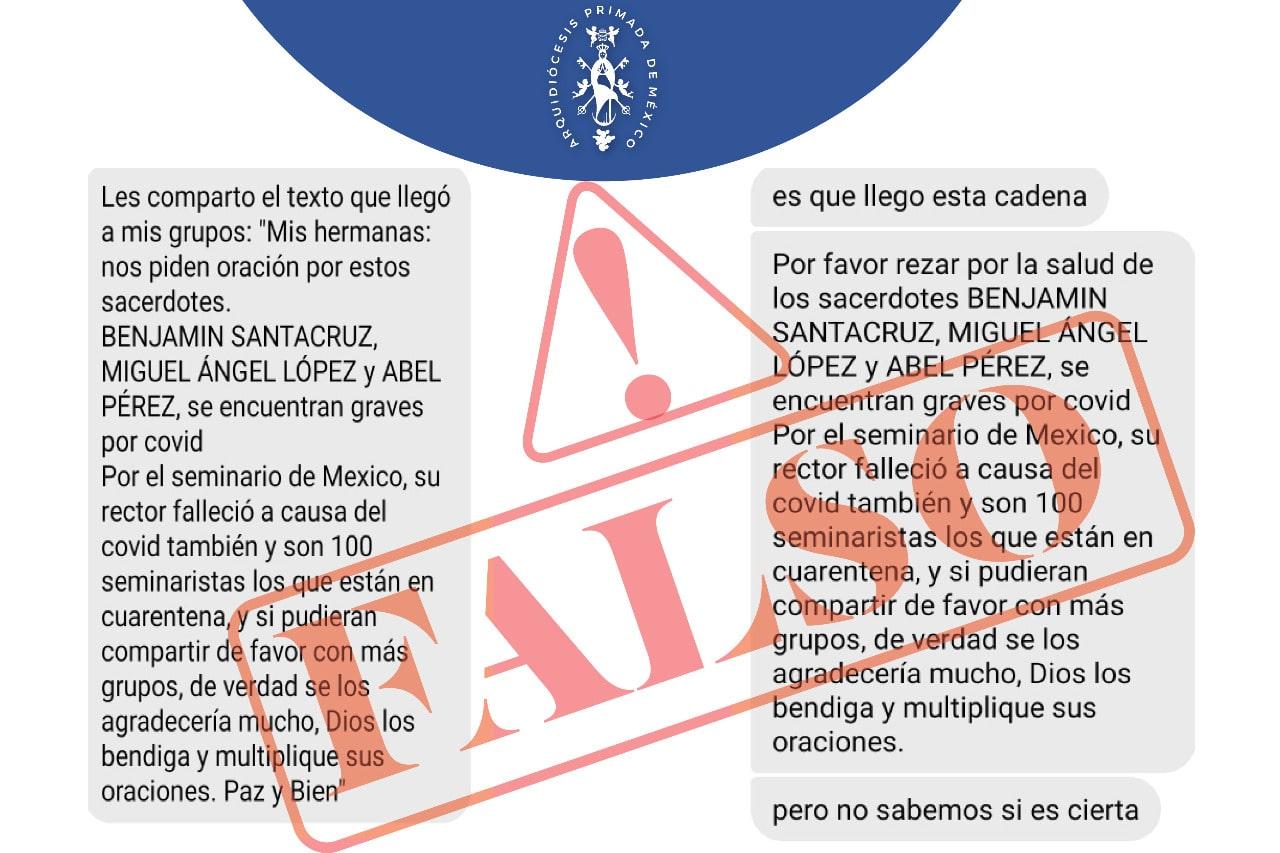 La noticia falsa sobre el Seminario Conciliar de México.