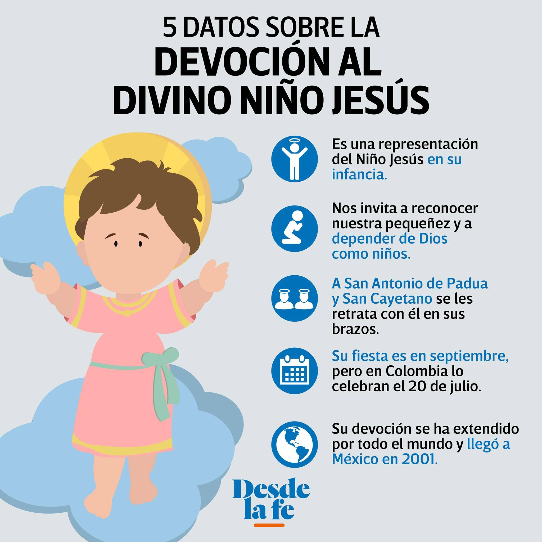 5 datos sobre la devoción al Divino Niño Jesús.