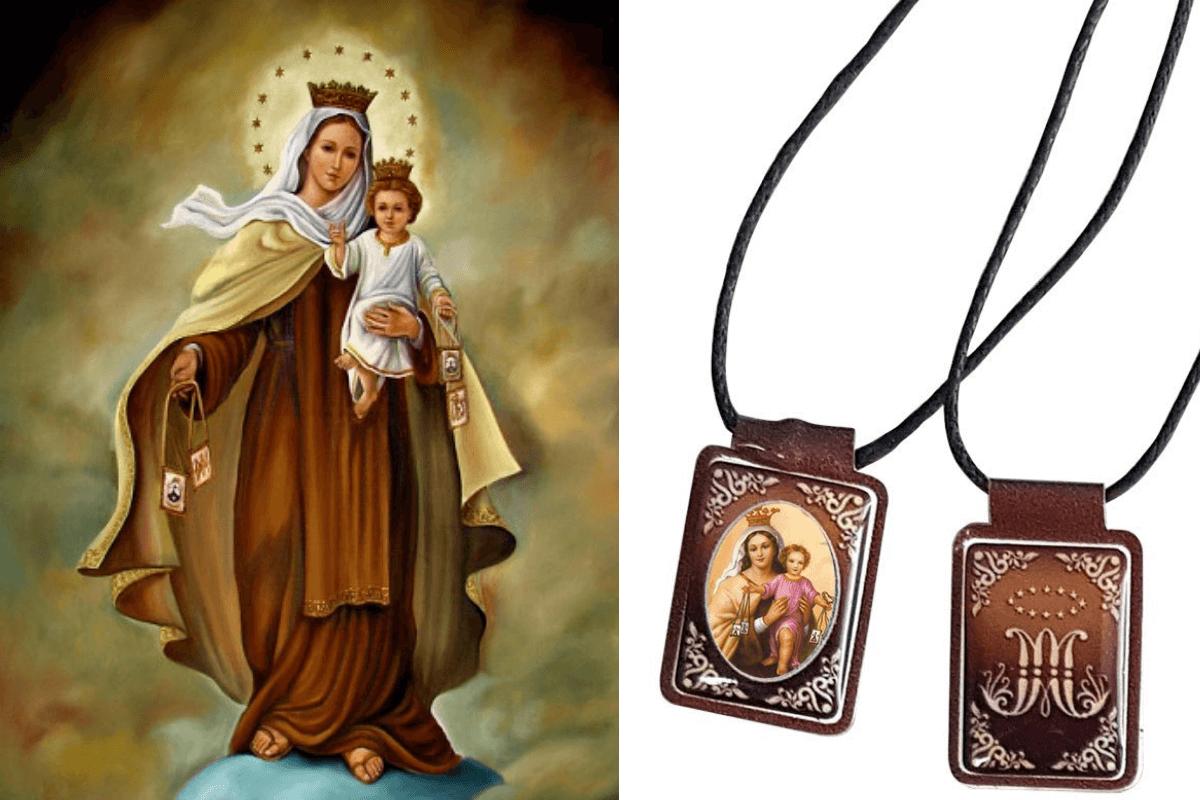 El escapulario más conocido es el de la Virgen del Carmen.