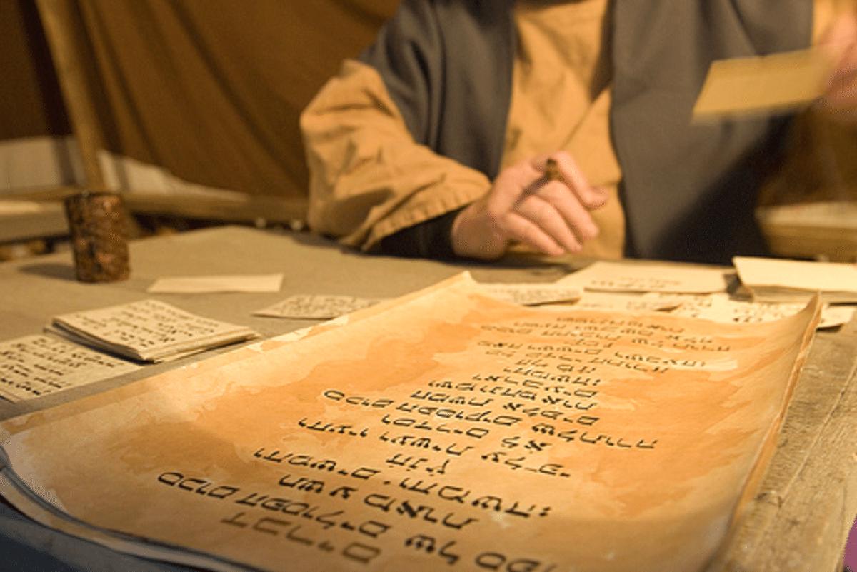 Los escribas traducían la Sagrada Escritura a las personas.
