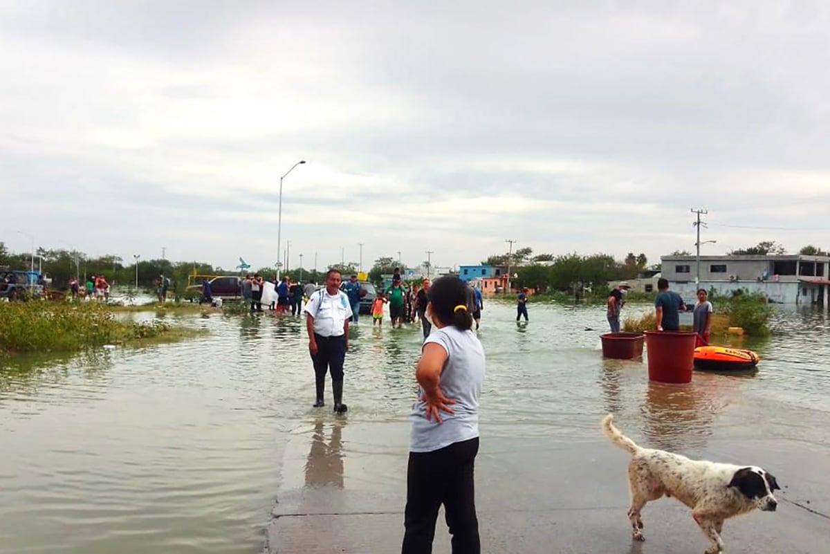 El Huracán Hanna dejó miles de damnificados en Tamaulipas. Foto: Cortesía.