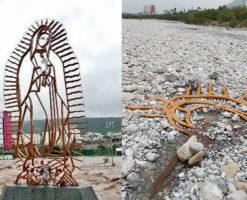 Huracán Hanna descubre escultura de la Virgen sepultada hace 10 años