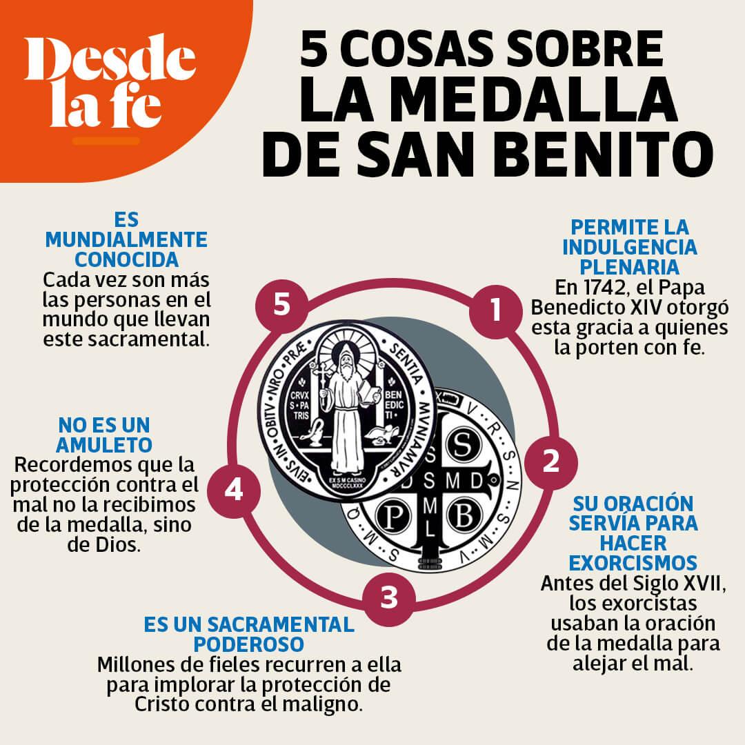 5 datos sobre la medalla de San Benito.