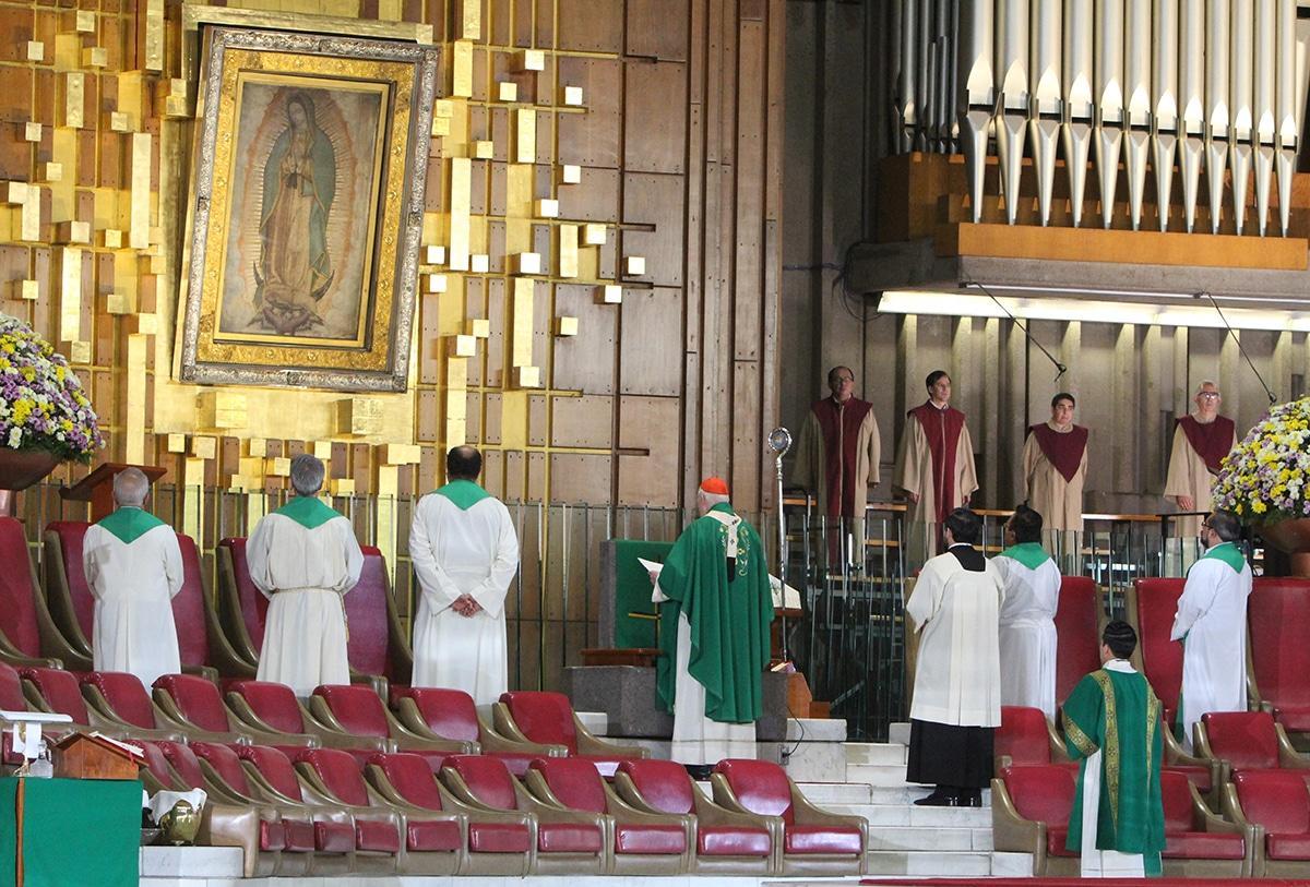 Misa del 5 de julio de 2020 en la Basílica de Guadalupe. Foto: INBG/Cortesía.